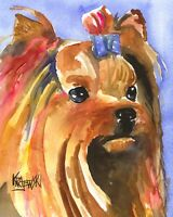 Yorkshire Terrier Art Print from Painting | Yorkie Gifts, Mom, Dad, 8x10