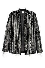 H&M STUDIO COLLECTION A/W 2016 Velvet Chains Embroidered Blazer Jacket EUR 36