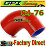 """GPI 2.5""""-3"""" 90° DEGREE 63mm-76 mm TURBO SILICONE ELBOW COUPLER HOSE PIPE RED"""