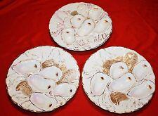 Antique Limoges Turkey Design Oyster Plates - SET of 3