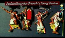 Plastoy Ancient Egypt Action Figures 4pc lot  Egyptian Pharaoh's Army vs Roman