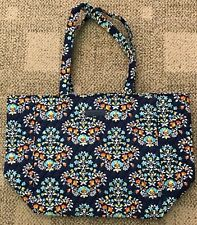 Vera Bradley Grand Tote 2.0 Chandelier Blue Floral Large Purse Travel Beach Bag
