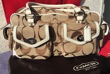 COACH SIGNATURE GALLERY POCKET TOTE SATCHEL K05J-6232 $458 with Protective Bag
