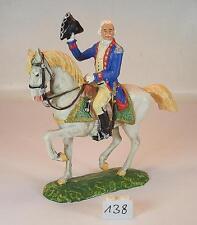 Elastolin 9150 Preußen des 18. Jahrh. 7 cm Offizier zu Pferd grüner Decke  #138