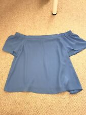New look women's off the shoulder navy top size 10