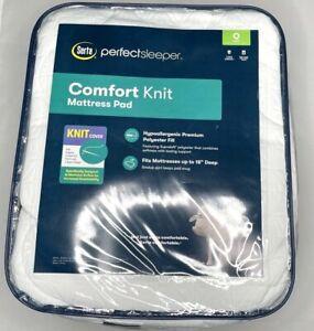 "Serta Perfectsleeper Comfort Knit Mattress pad Queen up to 18"""