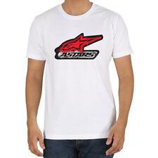 Genuine Alpinestars Racing Bike Motorcycle Style Stretwear White Men Tee T-Shirt