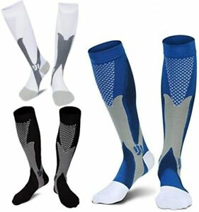1Pair Men Women Compression Socks 20-30mmHg Graduated Support Pain Relief