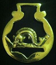 Vintage DOLPHIN FISH Horse Harness Brass England FISHERMAN Gift! WOW YOUR WALLS!