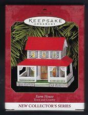 1999 Tin Farm House #1 in Series Hallmark Ornament Brand New Mint