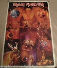 Iron Maiden 40x60 Powerslave Concert Collage Giant Subway Poster 1985