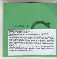 (DB453) Chairlift, Met Before - 2012 DJ CD