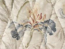 Antique French quilt  IRIS pattern c1900 beautiful !