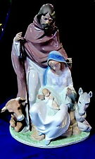 LLADRO #6008 JOYFUL EVENT NATIVITY BNIB XMAS RELIGIOUS JESUS HOLY COW DONKEY F/S