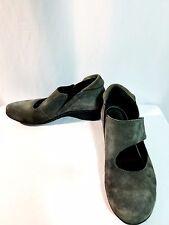 Khrio Vera Pelle Shoes Size 7.5 - 8 (38) Walking Slide Gray Suede Shoe $155