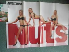 Nuts Magazine Giant A1 Poster Abi Titmuss Jackie Chimp A4x8 Rare and collectable