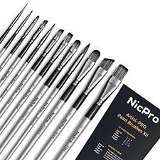 Nicpro 12 Pcs Acrylic Paint Brushes Set, Artist Paint Brush for 4336961073