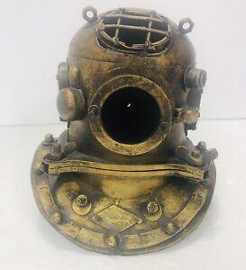 Nautical diving helmet decor resin bust brass handmade figurine steampunk statue