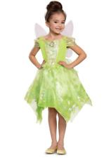 Tinkerbell Halloween Costume Deluxe Child Dress with wings Disguise Size S(4-6x)