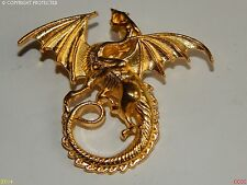 Steampunk badge brooch gold dragon LARP game of thrones Harry Potter Abzeichen