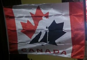 High Quality Canada Ice Hockey Team 3'X5' Large FLAG BANNER Indoor/Outdoor - New