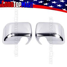 For Jeep WRANGLER 2007-2011 2012 2013 2014 2015 Chrome Full Mirror Covers PAIR