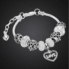 Halskette mit Anhänger Mond Vintage Retro Glas