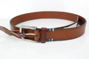 "Tommy Bahama Men's 1.25"" Leather Belt Tan Brown 11TM02X029"