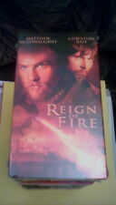 Reign Of Fire 2002 VHS Christian Bale Matthew McConaughey dragon hunters NEW OOP