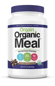Orgain Organic Plant Based Meal Replacement Powder, Creamy Chocolate Fudge 2lbs