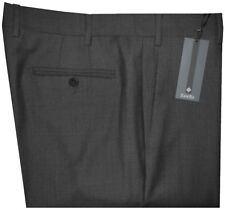 $395 NEW ZANELLA DEVON SOLID DARK CHARCOAL SUPER 120'S WOOL MENS DRESS PANTS 36