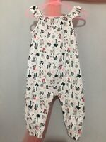 Cute Baby Girls Cactus Llama Print Summer Romper JumpSuit 9-12m🌵🌵🌵