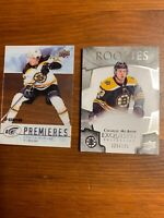 2017-18 Upper Deck Ice Charlie McAvoy Rookie Card Lot