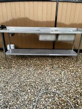 More details for stainless steel commercial double bowl sink with built in hand wash sink new