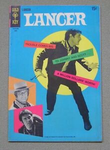 Lancer #2 (Gold Key 1969) TV western; Photo cover; FN