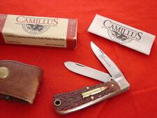 "Camillus USA Made 3-5/8"" 2 Blade HORNADY 17HMR 2 Blade Trapper Knife MINT"