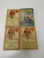 4 Vtg Lot 1913, 1914 1st Ed. The Meadow Brook Girls, Janet Aldridge HC DJ on 1