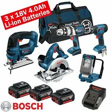 Bosch 18 volt cordless 5 piece li-on kit BOS18VKIT5
