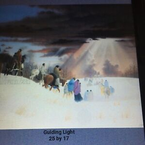 Donald Vann Cherokee Litho,Rare Sold Out 1989,Guiding Light 25x17