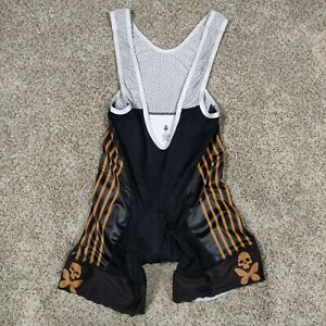 Betty Designs Small Do Epic Black Padded Cycling Bib Shorts Skull Butterflies