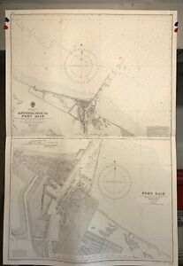 Port Said Suez Canal Navigational Chart / Hydrographic Map # 234, Egypt Med. Sea