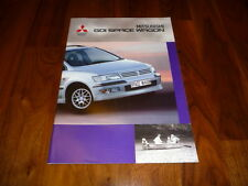 Mitsubishi Space Wagon GDI folleto 10/1998
