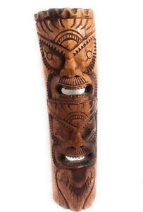 "Premium Love & Prosperity Tiki Mask 40"" - Hand Carved   #rtg1010100"