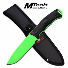 Fixed-Blade Tactical Knife   Mtech Zombie Green Full Tang Combat Blade Survival