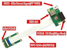 Mini PCI-E to PCI-E Express X1+USB Riser Card with High Speed FPC Cable