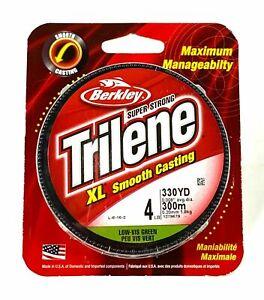 Berkley Trilene XL Smooth Casting Low VS Green 4 LB 330 YD CR1