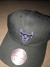 huge selection of 38eab 5696e Adult Mitchell   Ness NBA Chicago Bulls Slouch Strapback Hat Black Concord   28