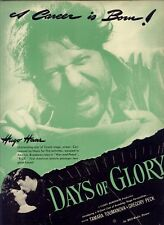 "1944 RARE ""HUGO HASS ""DAYS OF GLORY"" PR AD"