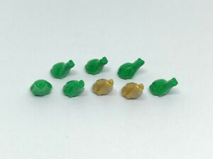 Lego City Town x 8 Green gold frogs minifigure animal zoo collectable frog
