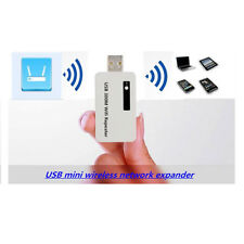 300M Wireless Range Extender USB WiFi Repeater Signal Booster Network Router UK